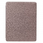 Honeycomb Texture Protective PU Leather Case Cover Stand for Ipad 2 / 3 / 4 - Coppery