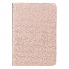 Honeycomb Texture Protective PU Leather Case Cover Stand for Ipad MINI - Golden