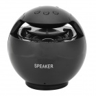 D600A Multifunction MP3 Player Speaker w/ FM / TF / USB - Black
