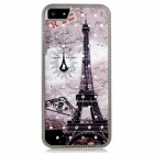 Metal Eiffel Tower Crystal Decorated Protective Back Case for Iphone 5 - Multicolored