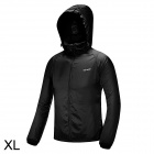 Free Soldier Outdoor Ultra-Slim Breathable Men's Hoodie Jacket - Black (Size XL)