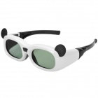 Mickey Mouse Style Active 3D Shutter Glasses for Children - White + Black