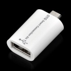 Micro USB Male to USB Female OTG Adapter for Samsung i9500 / i9300 / i9100 / HTC / Motorola - White