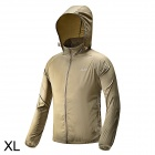 Free Soldier Outdoor Ultra-Slim Breathable Men's Hoodie Jacket - Khaki (Size XL)