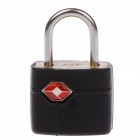 JUST LOCK TSA389 Zinc Alloy TSA-Accepted Travel Lock - Black + Silver