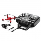 JINXINGDA JD-385 2.4GHz 4-Channel R/C Aircraft w/ 6-Axis Gyroscope / Remote Controller - Red + Black