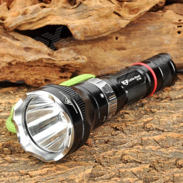 Little Giant HT-D06 150lm 5-Mode White Diving Flashlight w/ CREE XR-E Q5 - Black + Silver (1x18650)