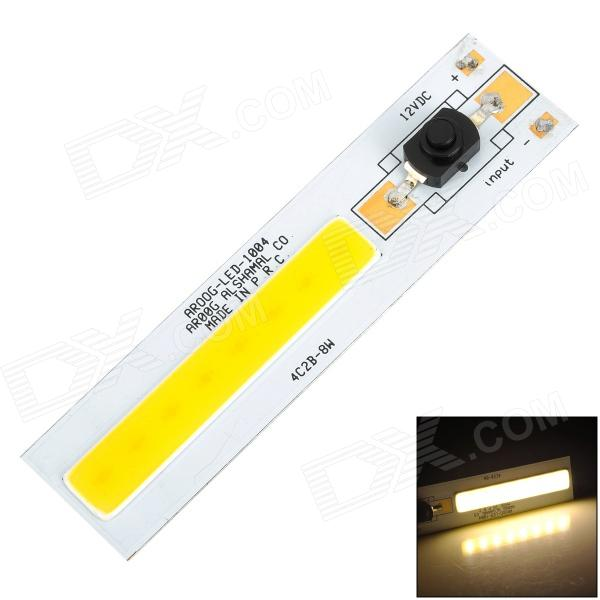 AROOG-LED-1004 DIY 8W 720lm Warm White Square COB LED Module w/ Switch (12~13V) youoklight 8w 485lm 3500k 1 cob led warm