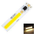AROOG-LED-1004 DIY 8W 720lm Warm White Square COB LED-Modul w / Switch (12 ~ 13V)