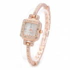 JW Women's Zinc Alloy Band Analog Quartz Bracelet Wrist Watch - Rose Gold