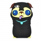 Cute 3D Dog Style Protective Silicone Back Case for Iphone 5 - Black