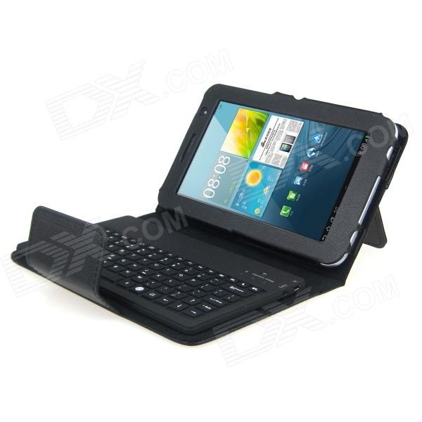 HT-P3100 Bluetooth v3.0 82-Key Keyboard for Samsung Galaxy Tab 2 P3100 / P3110 - Black fashion painted flip pu leather for samsung galaxy tab 2 7 0 p3100 p3110 7 0 inch tablet smart case cover gift
