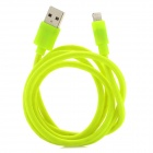 USB-zu-8-Pin Blitz Data / Laden Nylon Gewebe-Kabel für iPhone 5 / iPad Mini - Fluorescent Grün