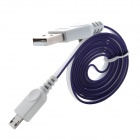 USB to Micro USB Sync Data / Charging Flat Cable for Samsung Galaxy S3 / S4 - Purple + White