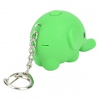 Cute Elephant Style White Light LED Keychain - Green (3 x AG10)