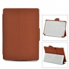 Ultra-Slim Protective Artificial Leather Case w/ Stand for Amazon Kindle 4 - Brown