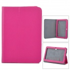 "Universal Stylish Litchi Pattern Flip-open PU Leather Case w/ Holder for 7"" Tablet PC - Deep Pink"
