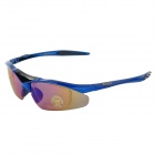 OBAOLAY Outdoor Cyclong UV400 Protection Sunglasses Goggles - Black + Dark Blue