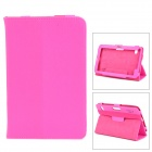 "Universal PU Flip-Open Case w/ Stand for 7"" Tablet PC - Deep Pink"