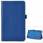 Stylish Flip-open PU Leather Case w/ Holder for Google Nexus 7 II - Dark Blue