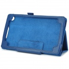 Estilo flip-open PU Leather Case w / soporte para Google Nexus 7 II - Azul Oscuro
