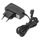 EU Plug Power Adapter + USB Male to Micro USB Male Cable + OTG Cable+ Stylus Pen Set - Black