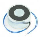 20 x 40mm DC Electro Holding Magnet - Black + Blue + Silver (Attractive Force 25kg, 12V, 22cm-Cable)
