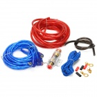 PKG66 Car Audio Power Amplifier Installation Wires Cables Kit - Red + Blue + Black