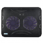 Coolcold Ultra-Thin USB Powered Ruhige 2-Fans Cooling Pad für Notebooks - Schwarz