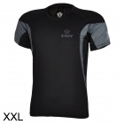 ESDY ESDY-8862 Outdoor Men's Quick Drying Round-Neck Short Tight T-Shirt - Black (Size XXL)
