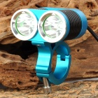 UltraFire MT-22A 1200lm 4-Mode White Bicycle Light w/ 2 x CREE XM-L U2 - Blue + Black (4 x 18650)