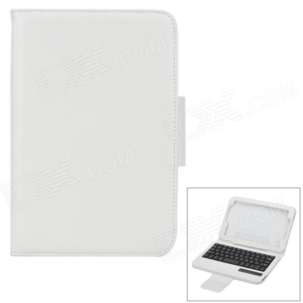 Protective PC Case w/ Wireless Bluetooth V3.0 59-key Keyboard for Samsung N5100 / N5110 - White