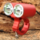 UltraFire MT-21 2 x CREE XM-L U2 1300lm 4-Mode White Bicycle Light - Red (4 x 18650)