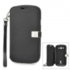 HELLO DEERE Jotter Series Protective PU Leather Flip Open Case for Samsung i9082 - Black