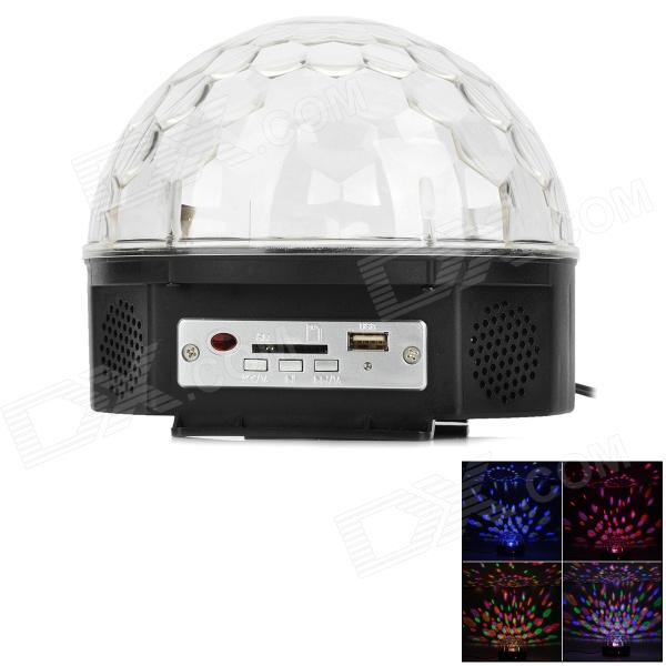ZnDiy-BRY Sound Control 18W RGB LED Crystal Magic Ball Light - Black + White  (EU Plug)