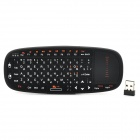 SY-RT-K10 Mini 2.4GHz Wireless Russian 70-Key Keyboard - Black