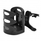 Convenient Air Vent Mounted ABS Water Bottle Holder Bracket for Car - Black