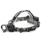 LWJ-45 CREE XM-L T6 600lm 3-Mode White Zooming Headlamp - Black (1 / 2 x 18650)