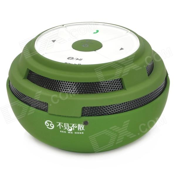 Outdoor Sports Bluetooth V2.1+ EDR Music Speaker w/ TF Card Slot / Voice Prompt - Deep Green + White aj 81 wireless bluetooth v2 1 mp3 speaker w tf fm micro usb for iphone more black white
