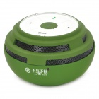 Outdoor Sports Bluetooth V2.1+ EDR Music Speaker w/ TF Card Slot / Voice Prompt - Deep Green + White