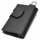 Convenient Durable Leather Key Case / Holder for Car - Black