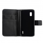 Protective PU Case w/ Stand for LG E960 (Nexus 4) - Black