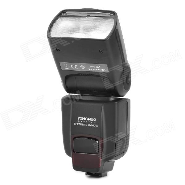 Yongnuo YN-560IIS 2.0 LCD Flash Lamp for Sony a950 / a900 / a850 / a700 + More - Black (4 x AA) - DXLighting &amp; Flash<br>Brand Yongnuo Model YN-560IIS Quantity 1 piece(s) per pack Color Black Material Plastic Compatible Camera Brand Sony Compatible Models Sony a950 a900 a850 a700 a580 a560 a550 a500 a450 a390 a380 a350 a330 a300 a200 a100 a290 a230 a77 a55 a33 LED Quantity 1 Color Temperature 5500 K Brightness N/A Lumens Power Supply 4 x AA batteries (not included) Working Voltage 6 V Power 6 W Other Features 2.0 LCD display scree; Guide number: 58(ISO 100 105mm); Flash mode: M S1 S2 multi; Flash zoom range: 24 28 35 50 70 80 105mm; Vertical rotation angle: -7~90degree; Horizontal rotation angle: 0~270 degree; Flashing light times: 100~1500times (Powered by AA battery); Recycle time: About 3 seconds (Powered by AA battery); Color temperature: 6500K; Flash time: 1 / 200s~1/20000s; Flash control: 8 level control (1/128-1/1) Total 29 level fine tuning; Wireless trigger distance: Indoor 20~25m outdoor 10~15m; Extra functions: Lamp electric zoom voice prompt auto saving set PC sync saving mode over-heating protection Packing List 1 x YN-560IIS 1 x Protective bag 1 x Holder 1 x Chinese / English manual<br>