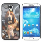 Dog and Cat Pattern Protective 3D Plastic Case for Samsung Galaxy S4 i9500