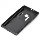 """S""-Shaped Pattern Plastic Back Case for Nokia Lumia 1020 - Black"