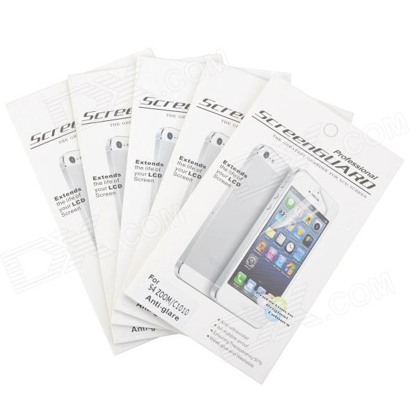 цена на Protective Matte Frosted Screen Protector for Samsung Galaxy S4 Zoom C1010 - Transparent (5 PCS)