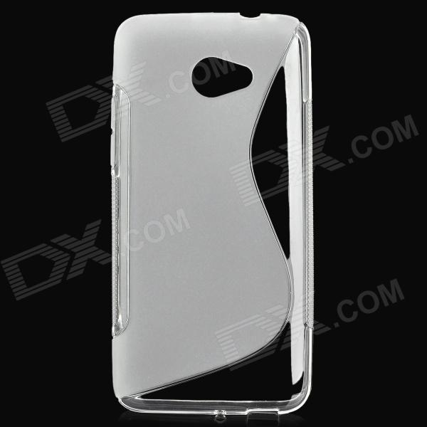 Protective Matte TPU Case for HTC Butterfly S - Transparent butterfly bling diamond case