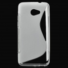Protective Matte TPU Case for HTC Butterfly S - Transparent