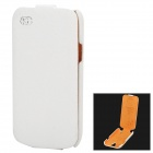 KUCHI Protective Genuine Leather Case for Samsung Galaxy S4 Mini - White