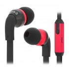 JXC E500 Noise Reducing Sound Eliminating In-ear Earphone w/ Mic for Iphone + More - Black + Red